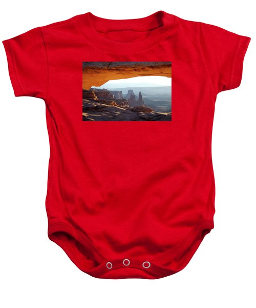 Sunrise At Mesa Arch Baby Onesie