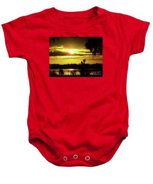 Sunrise At The Lake Baby Onesie