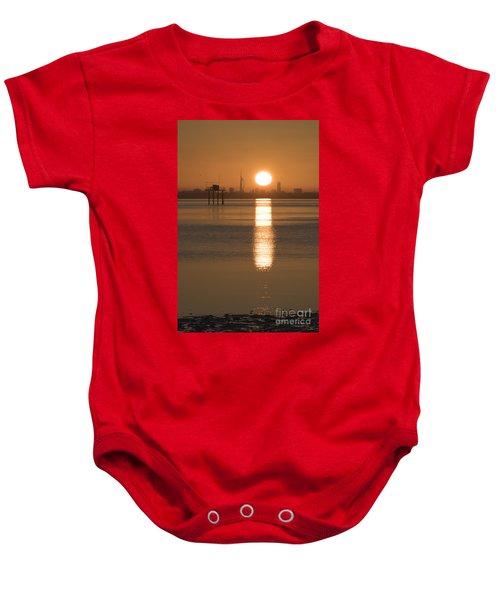 Sunrise Over Portsmouth Baby Onesie