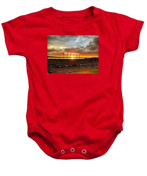 Sunset At Camden Yards Baby Onesie