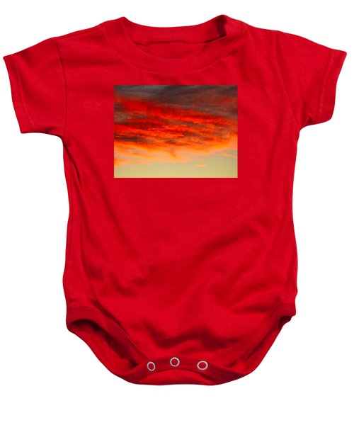 Sunset At Eaton Rapids 4826 Baby Onesie