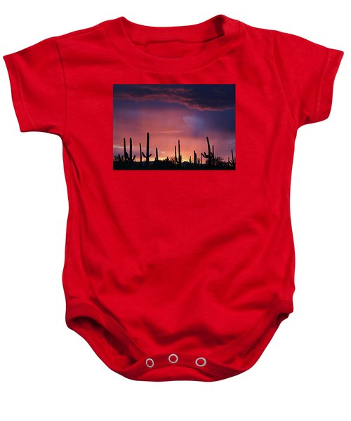 Sunset Colors Baby Onesie
