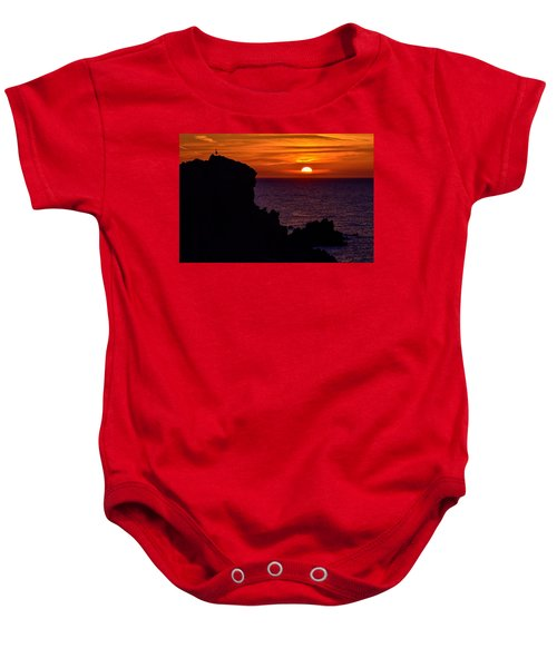 Sunset From Costa Paradiso Baby Onesie