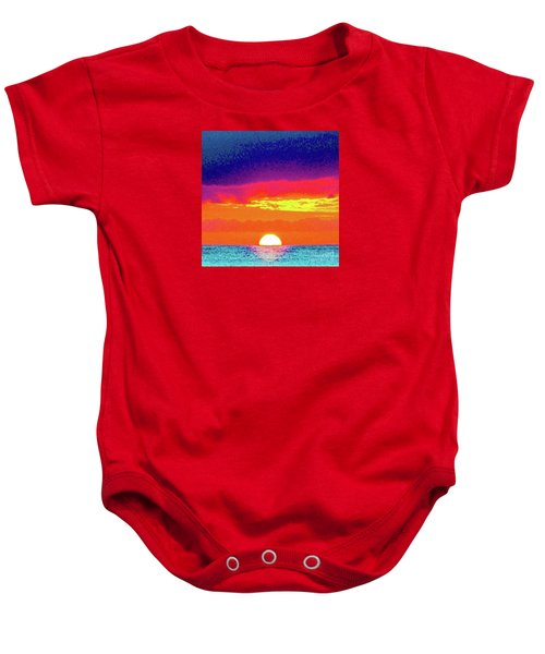 Sunset In Abstract 500 Baby Onesie