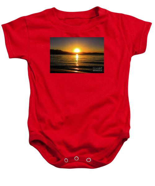 Sunset Lake 1 Baby Onesie