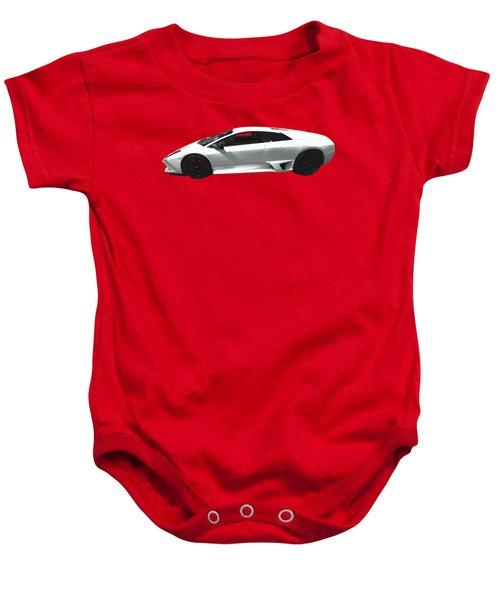 Supercar In White Art Baby Onesie