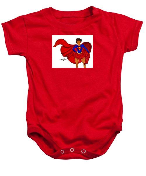 Superwoman I Am  Baby Onesie by Diamin Nicole