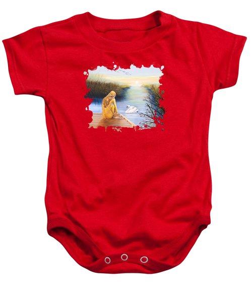 Swan Bride T-shirt Baby Onesie by Dorothy Riley
