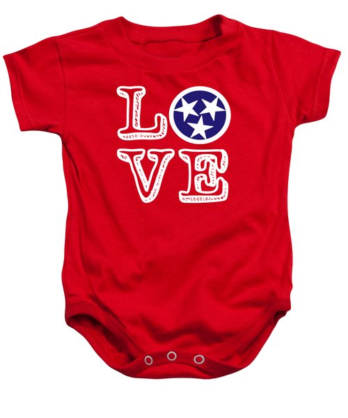 Tennessee Flag Love Baby Onesie