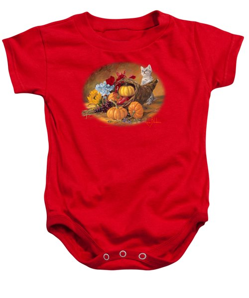 Thankful Baby Onesie by Lucie Bilodeau