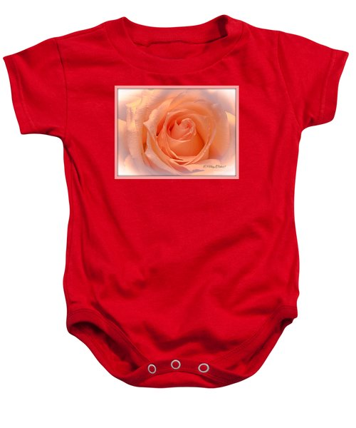 The  Beauty Of A Rose  Copyright Mary Lee Parker 17,  Baby Onesie