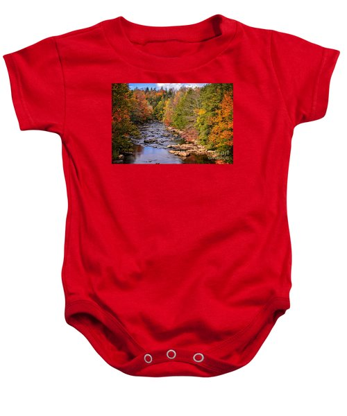 The Blackwater River In Autumn Color Baby Onesie