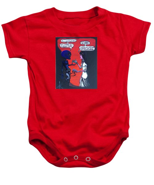 The Downside Of Time Travel Baby Onesie