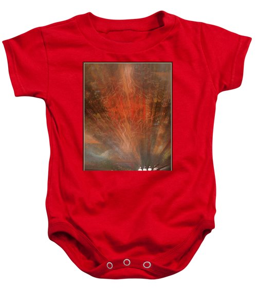 The Drumbeat Rising Baby Onesie