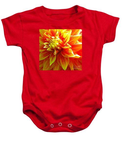The Heart Of A Dahlia #2 Baby Onesie