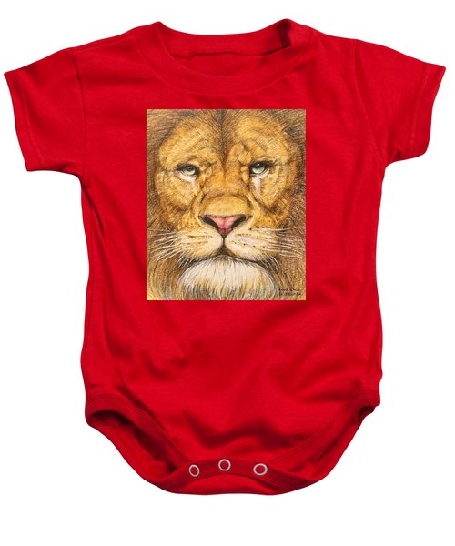 The Lion Roar Of Freedom Baby Onesie by Kent Chua
