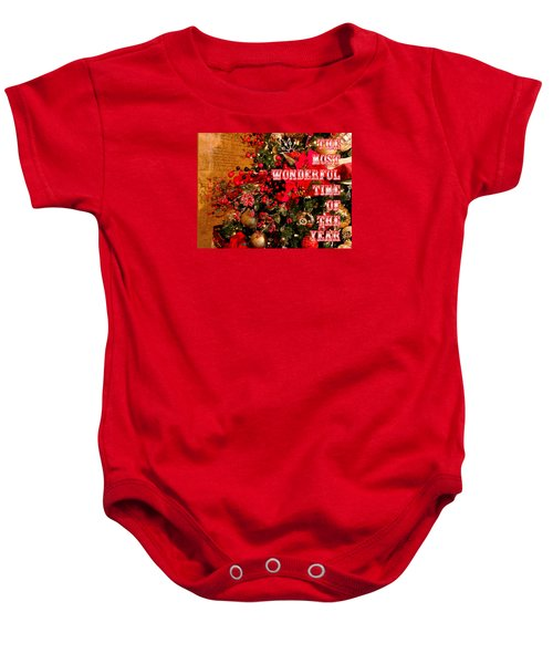 The Most Wonderful Time Of The Year Baby Onesie