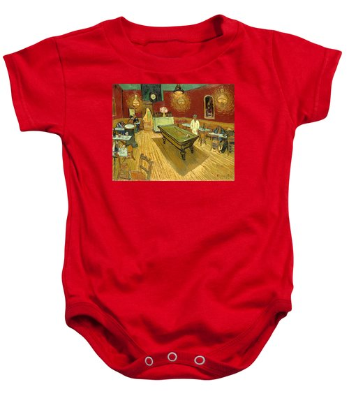 The Night Cafe Auto Contrasted Baby Onesie