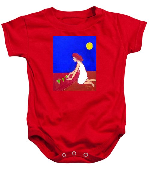 Baby Onesie featuring the painting The Planting by Winsome Gunning