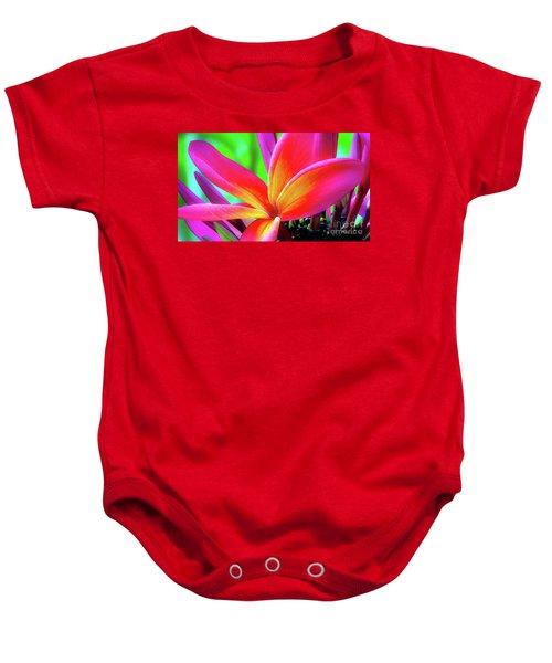 The Plumeria Flower Baby Onesie