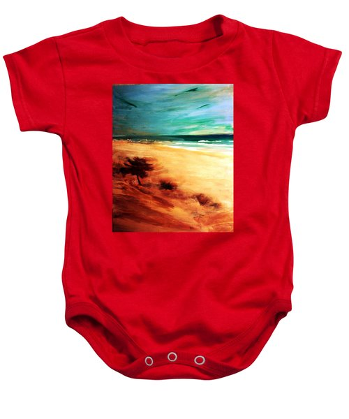Baby Onesie featuring the painting The Remaining Pine by Winsome Gunning