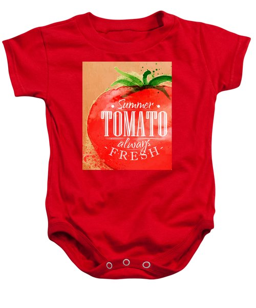 Tomato Baby Onesie by Aloke Creative Store