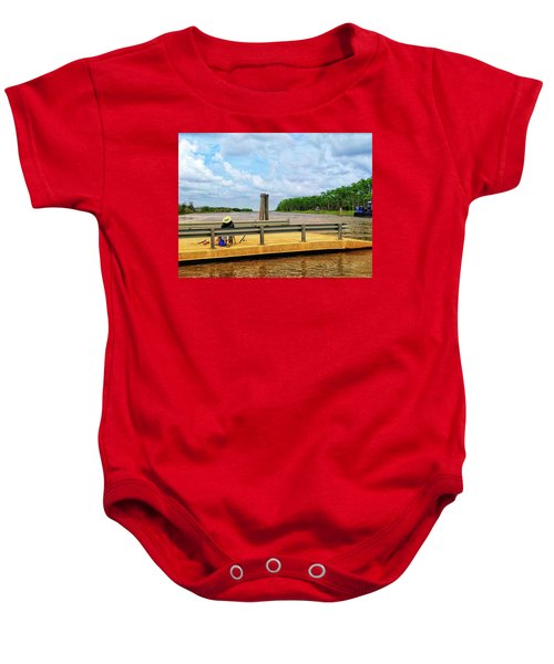 Too Hot To Fish Baby Onesie