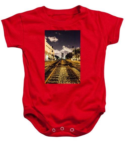 Train Tracks Baby Onesie