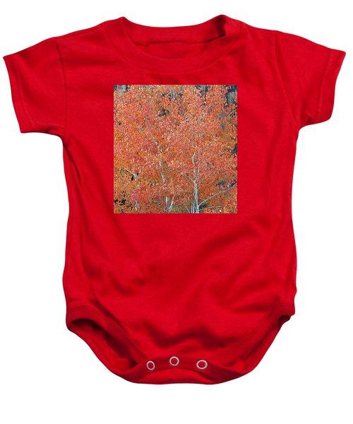 Translucent Aspen Orange Baby Onesie