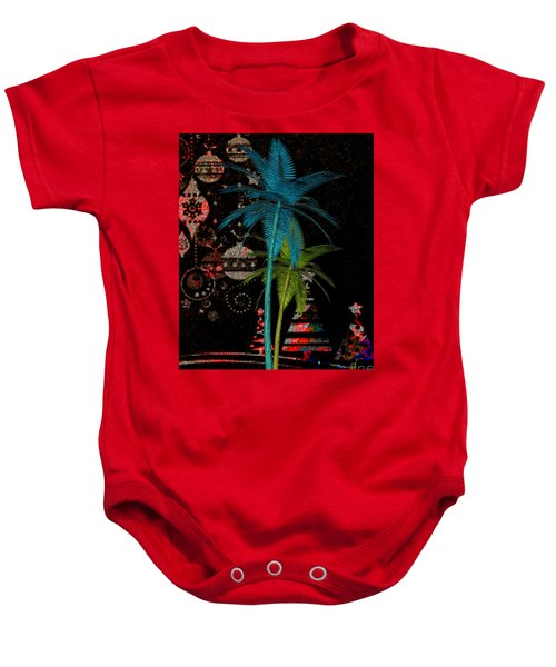 Tropical Holiday Red Baby Onesie