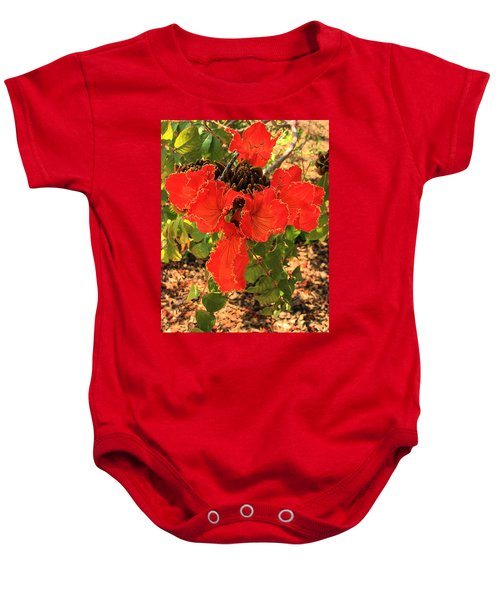 Tulip Tree Flowers Baby Onesie