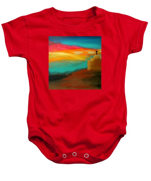 Turquoise Trail Sunset Baby Onesie