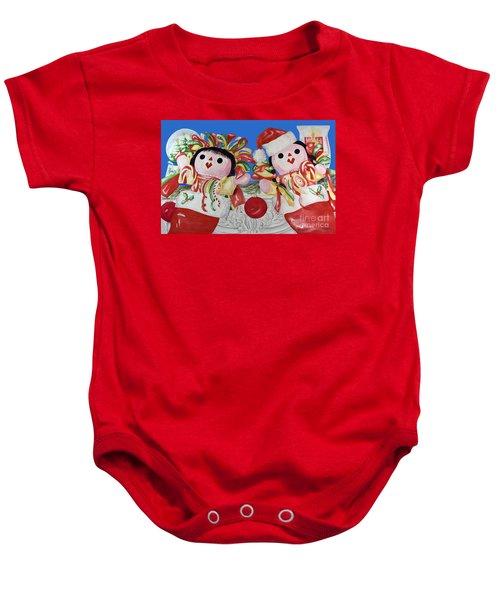 Twin Stockings Baby Onesie