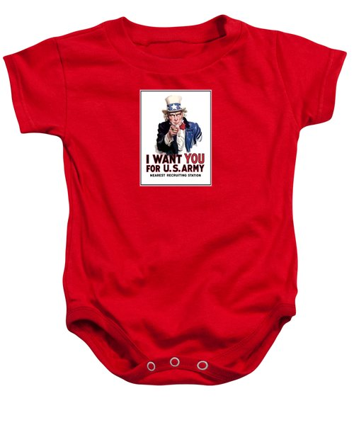 Uncle Sam -- I Want You Baby Onesie by War Is Hell Store