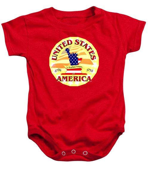 United States Of America Design Baby Onesie