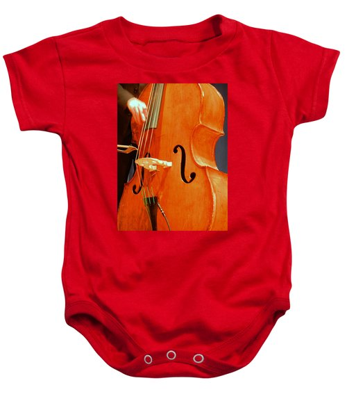 Upright Bass 3 Baby Onesie