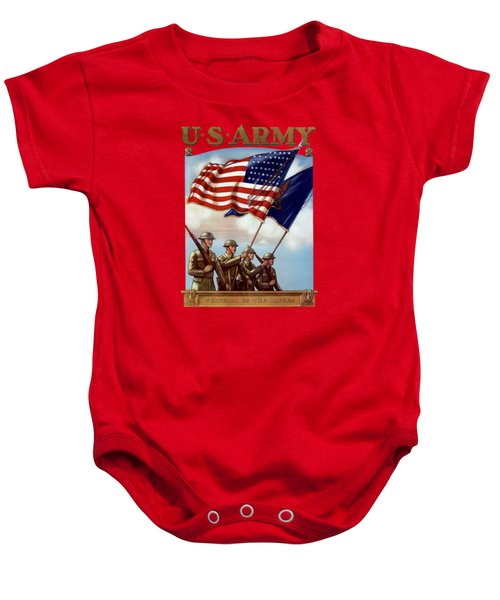 Us Army -- Guardian Of The Colors Baby Onesie