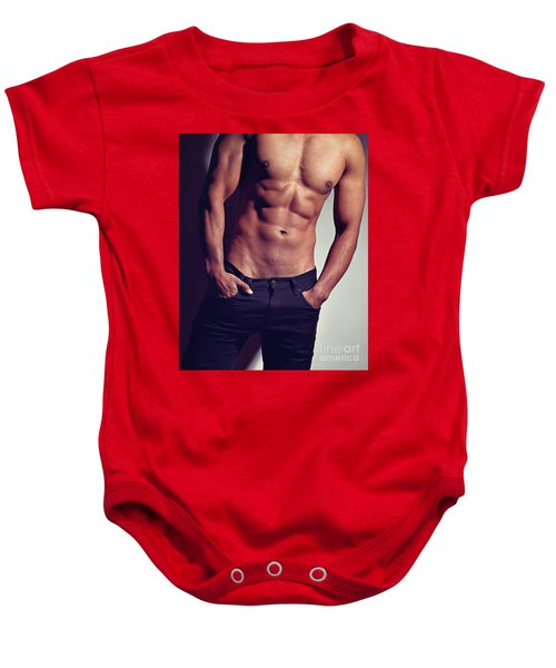 Very Sexy Man With Great Body Baby Onesie