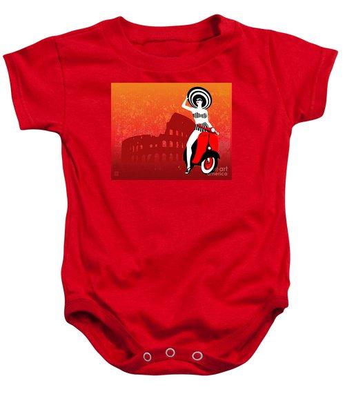 Vespa Girl Baby Onesie