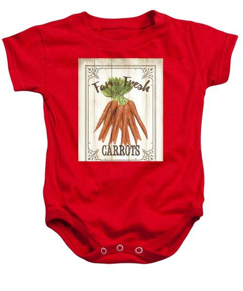 Vintage Fresh Vegetables 3 Baby Onesie