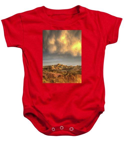 Virga Over The Badlands Baby Onesie