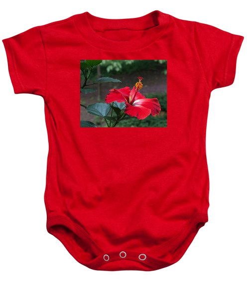 Vivid Hibiscus Baby Onesie