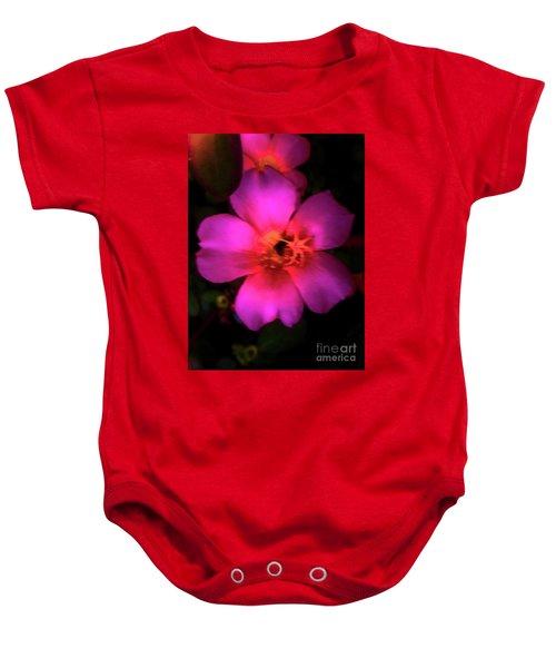 Vivid Rich Pink Flower Baby Onesie