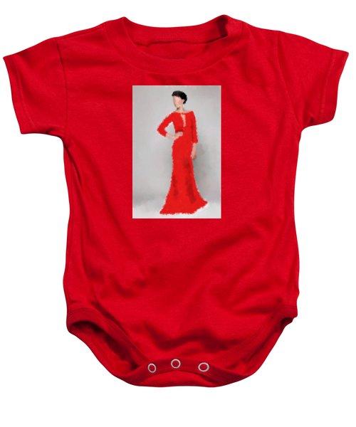 Baby Onesie featuring the digital art Vivienne by Nancy Levan