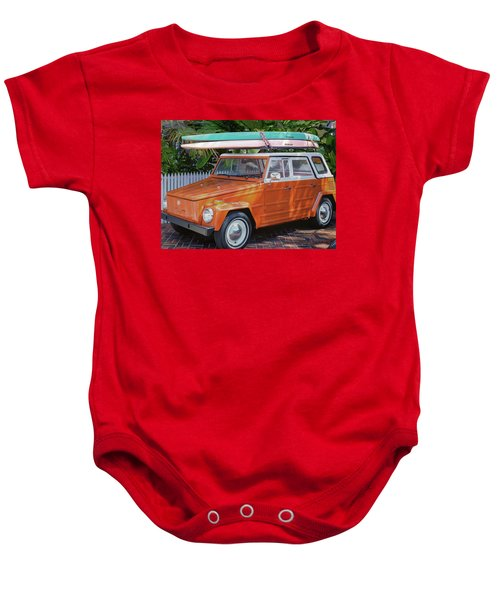 Volkswagen And Surfboards Baby Onesie