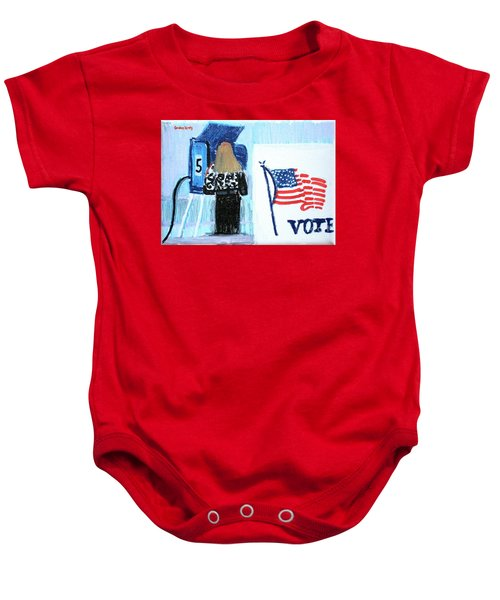 Voting Booth 2008 Baby Onesie by Candace Lovely