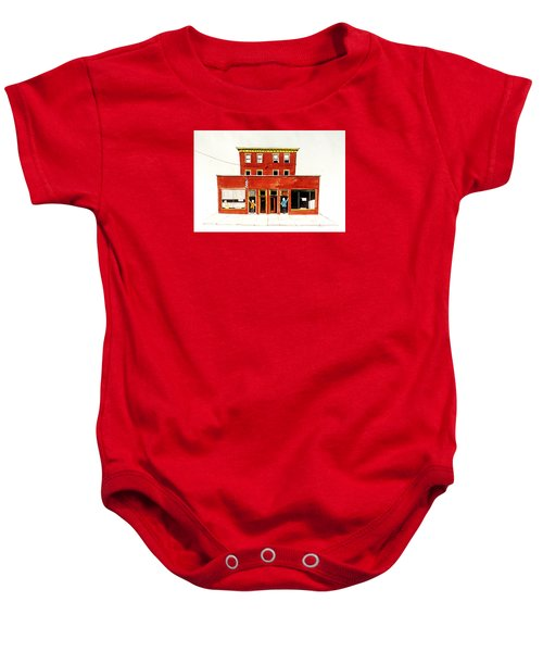 Washington Street Barbers Baby Onesie