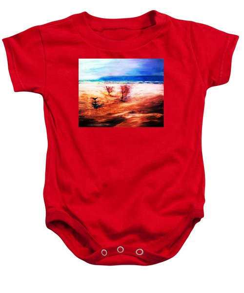 Baby Onesie featuring the painting Water And Earth by Winsome Gunning