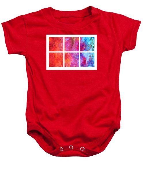 Water And Fire Abstract Baby Onesie