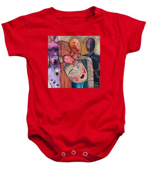 We Are All Connected Baby Onesie